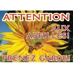 Panneau Attention Abeille modele : Tournesol
