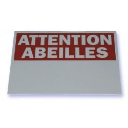Panneau Attention Abeilles   Panneau Rectangle PVC - 40 x 25 cm