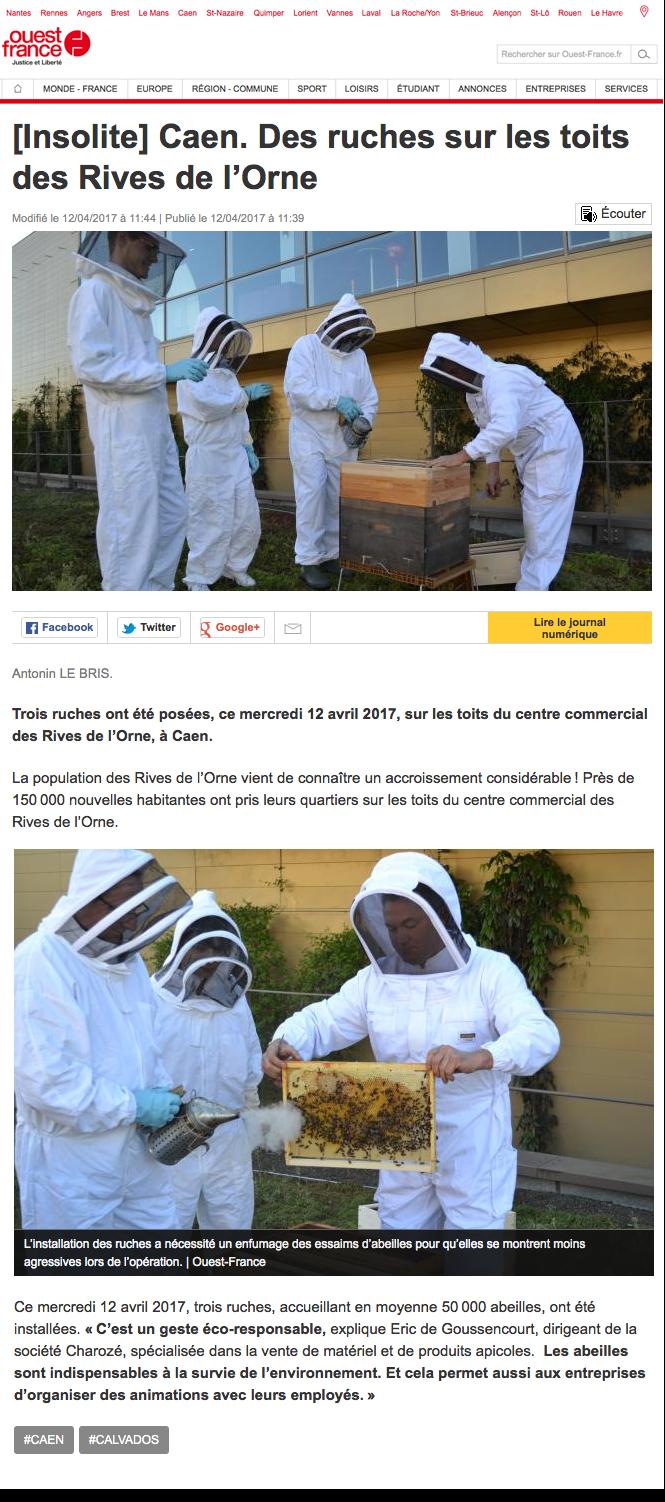 Des ruches sur les toits des rives de l 39 orne ouest france apiculturea - Rives de l orne magasins ...
