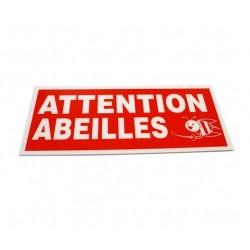 Panneau Attention Abeilles   Panneau Rectangle alveole - 40 x 18 cm