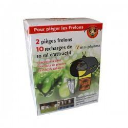 Pièges frelon (2 piege + 10 doses)